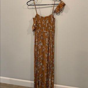 Floor length dress.